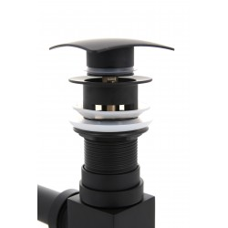 Korek klik klak TY-B1007 czarny z przelewem kwadra